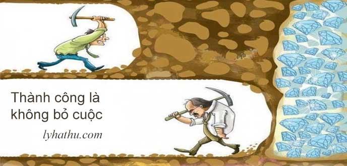 thành công là không bỏ cuộc