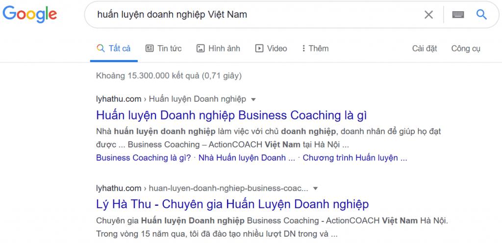 huấn luyện doanh nghiệp Việt Nam